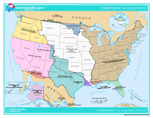 US Territorial Acquisitions Map